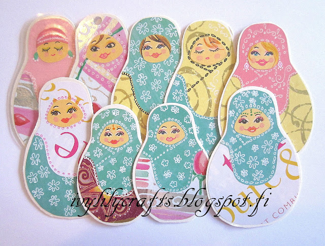 matryoshka doll bookmarks