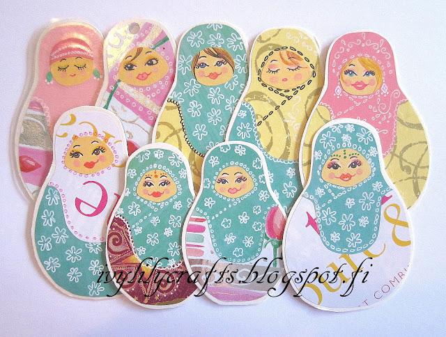 matryoshka doll bookmarks