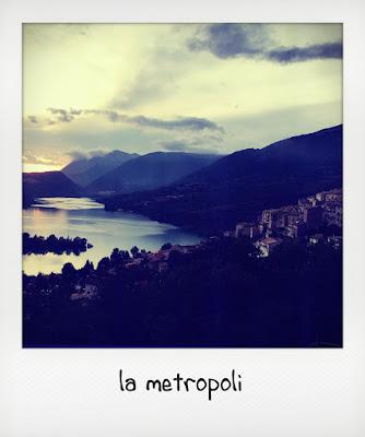 Panorama da Civitella Alfedena, parco nazionale d'Abruzzo