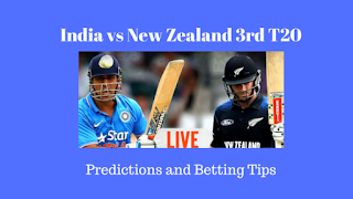 India vs New Zealand 3rd T20 Predictions and Betting Tips for Today Match