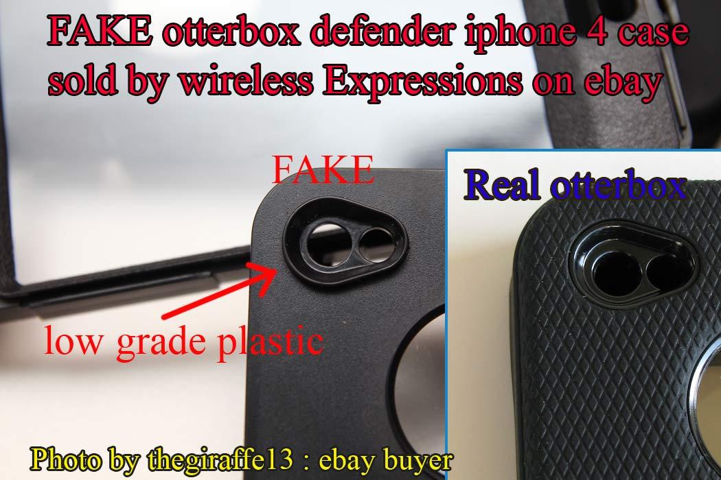 FAKE OTTERBOX DEFENDER FROM EBAY POWER SELLER