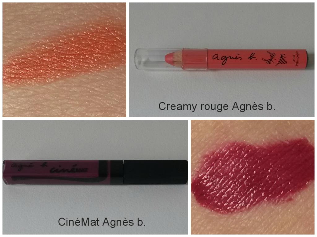 Crazy about lipstick tag Agnès b. cinémat et creamy rouge