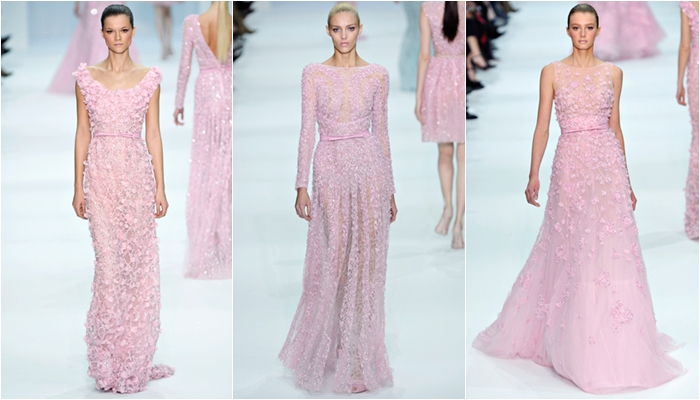 Haute Couture spring 2012 Elie Saab lilac long dresses