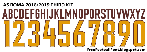 Free Football Fonts: AS Roma 20182019 Third Kit Font