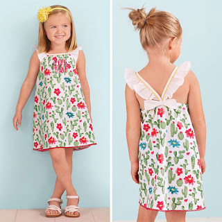 girl's personalized cactus dress