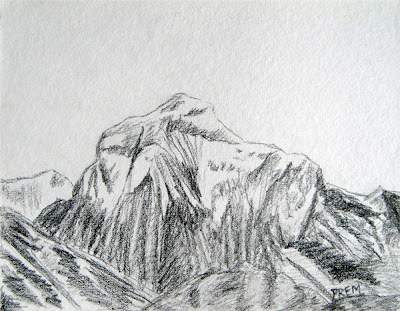 Easy Drawing Picture of Mt. Dhaulagiri