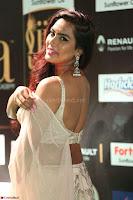 Prajna Actress in bhackless Cream Choli and transparent saree at IIFA Utsavam Awards 2017 020.JPG