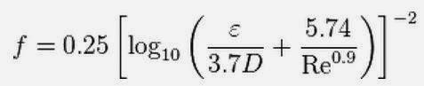Haaland equation from Chemineering.blogspot.com