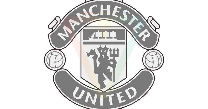 Manchester United Logo Grayscale Vector Cdr Ai Eps Svg Png Jpg Voluvo