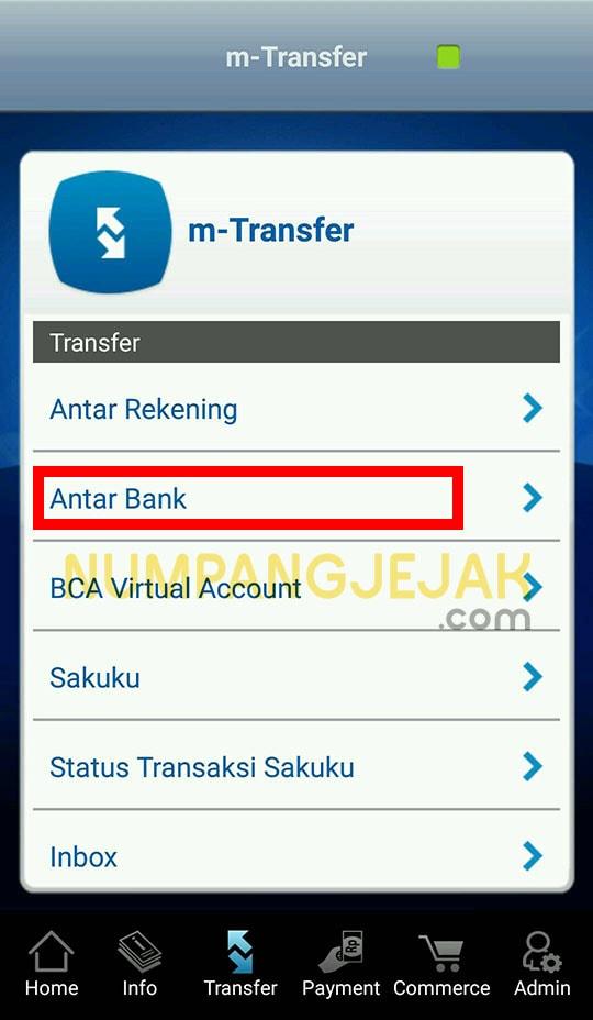 cara transfer dari bank bca ke bank