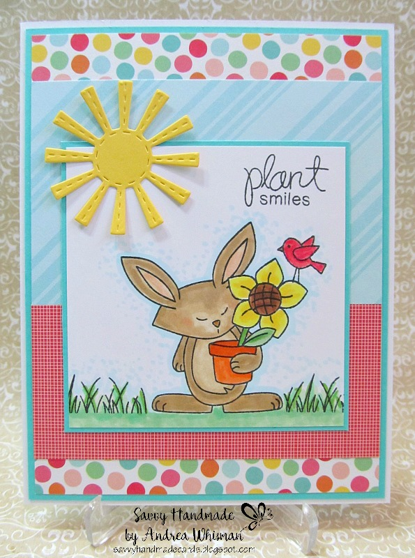 Plant smiles by Andrea W. features Garden Whimsy by Newton's Nook Designs; #newtonsnook