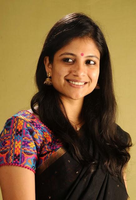 Tamil Actress Aditi Balan Black Saree Photo
