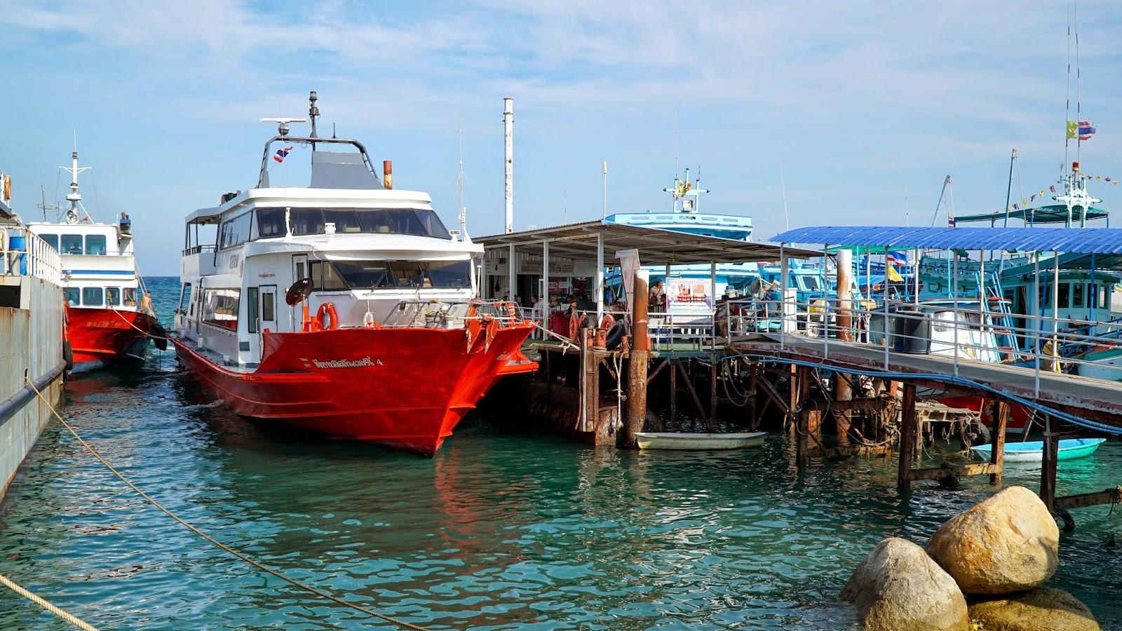 Boarding the Seatran ferry bound for Koh Phangan