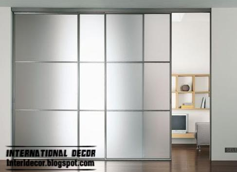 Modern sliding doors designs wide for office room interior for Big sliding glass doors