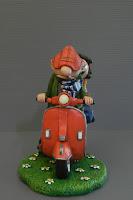 cake topper a tema fumetti decorazione torta modellino personalizzato orme magiche