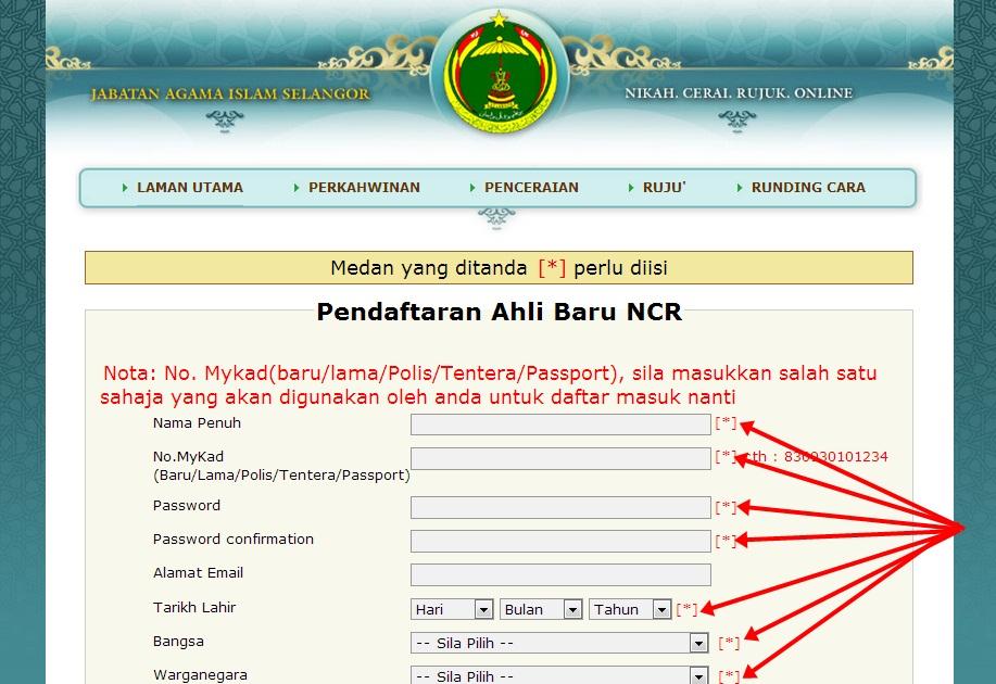 Borang Kahwin Selangor Online Umpama H