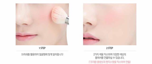 It's Skin Life Color Palette Cheek #Cozy Pop modo de uso