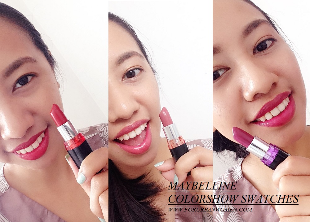 maybelline lipstick swatches and review
