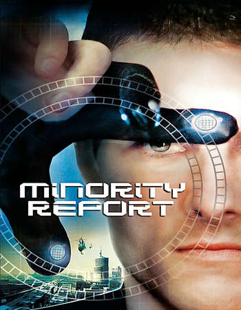 Poster Of Minority Report 2002 Dual Audio 600MB BRRip 720p ESubs HEVC Free Download Watch Online downloadhub.net
