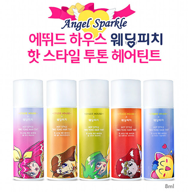 ETUDE HOUSE X WEDDING PEACH HOT STYLE TWO TONE HAIR TINT