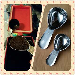 coffee scoop collage