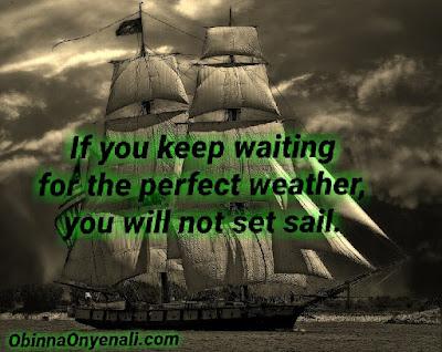 Inspirational quote on procrastination.