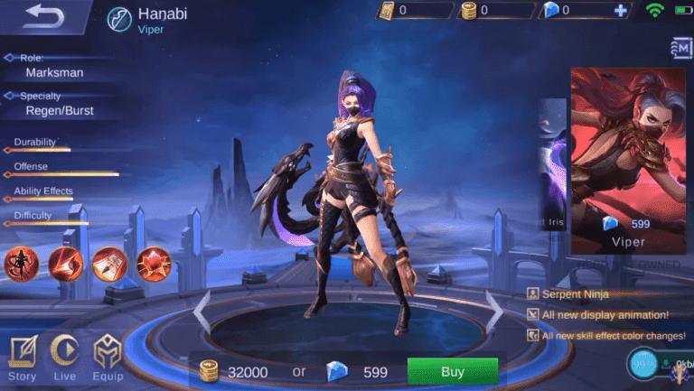 Hanabi Viper Elite Skin | Mobile Legends Pros