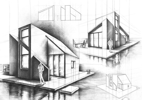 09 house on the water marlena kostrzewska interior - Interior Design Drawings