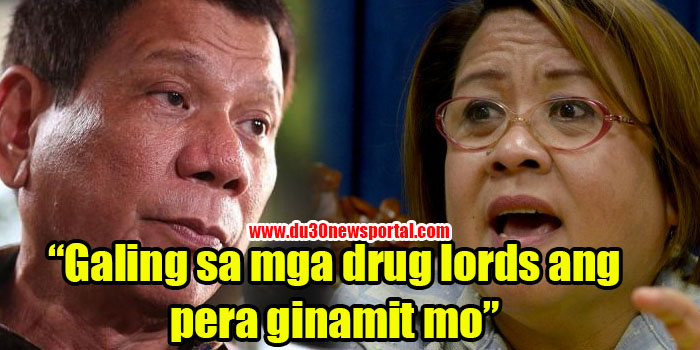 TRENDING: President Duterte Reveals that Senator De Lima's Policital Campaign Was Funded Using Money She Received From Drug Lords!