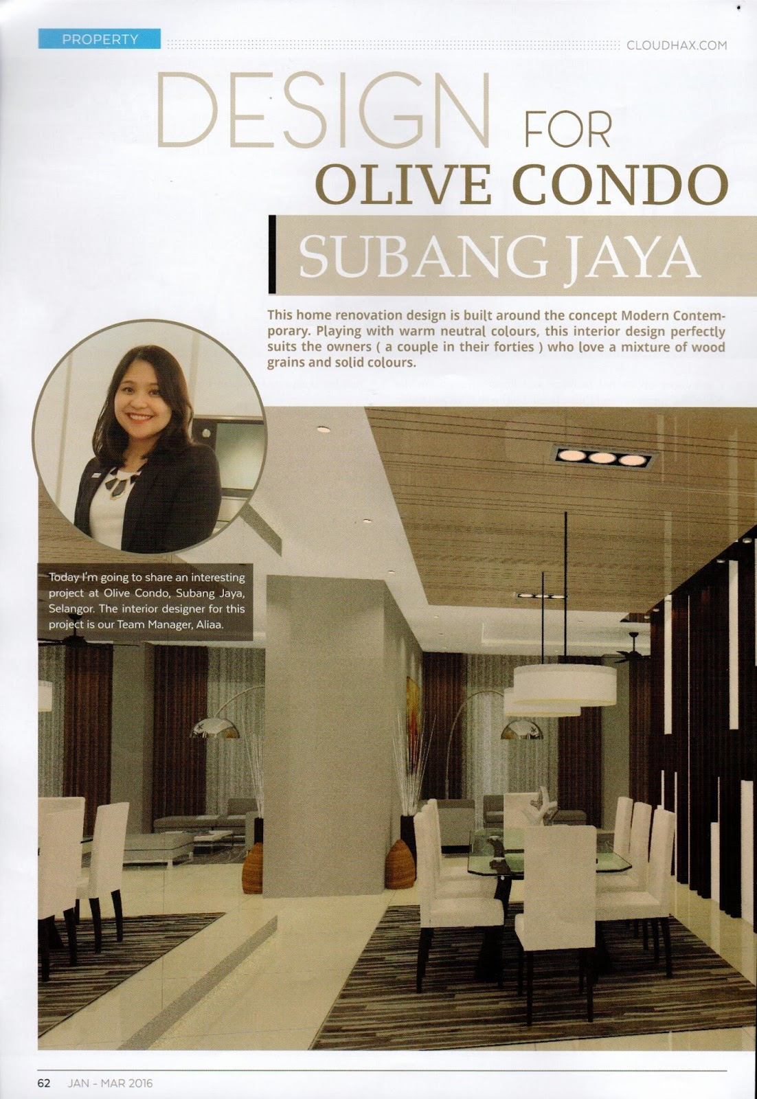 modern contemporary condo design magazine feature - Malaysia Interior Design Blog