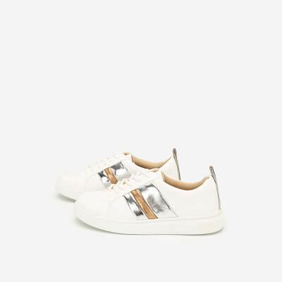 Giày Sneaker Phối Metallic - SNK 0031 - Màu Trắng