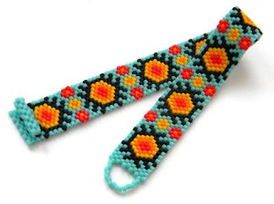 купить узкий бисерный браслет украшения от анабель россия
