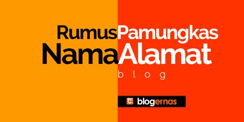 Rumus Pamungkas Memilih Nama dan Domain Blog