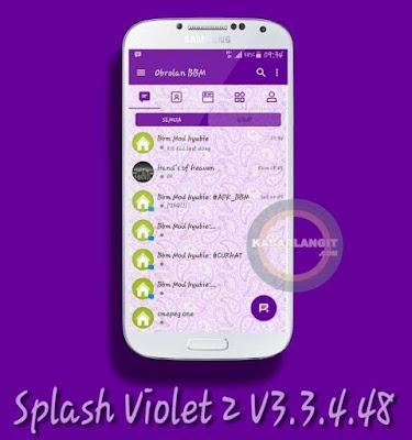 Downoad BBM Splash violet dengan bakground batik