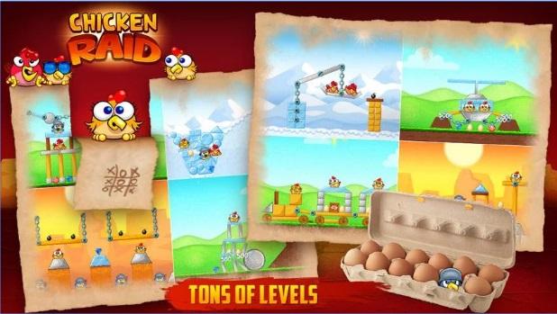 لعبة عصابة الدجاج Chicken Raid Free