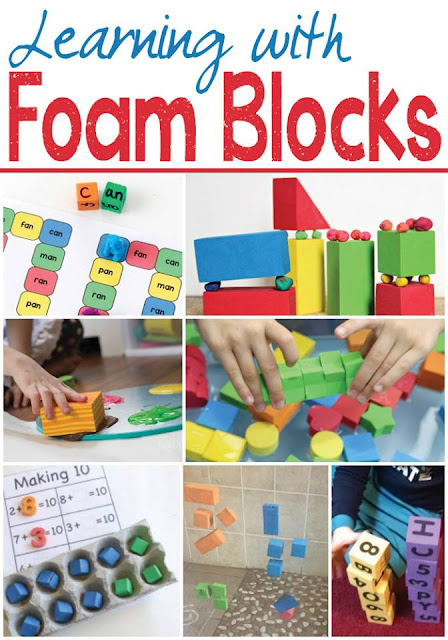 learning activities using foam blocks