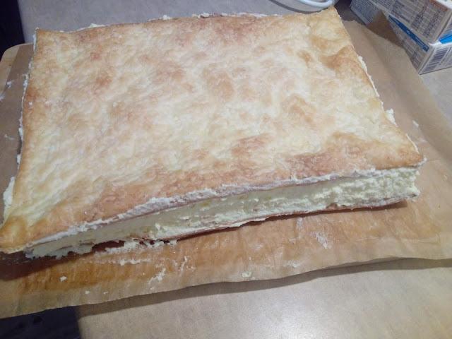 napoleonka na ciescie francuskim napoleonka z kremem budyniowym kremowka karpatka ciasto eleganckie tradycyjne ciasto z budyniem