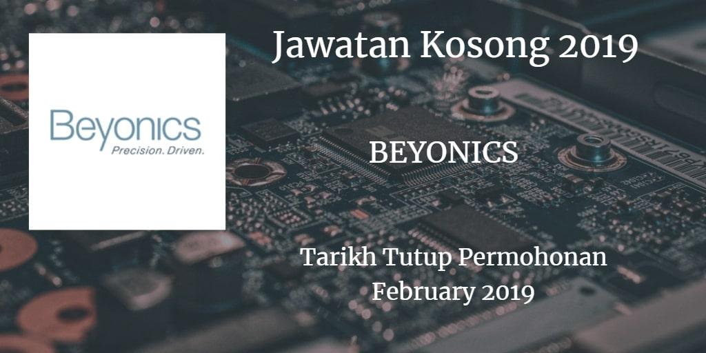Jawatan Kosong BEYONICS February 2019