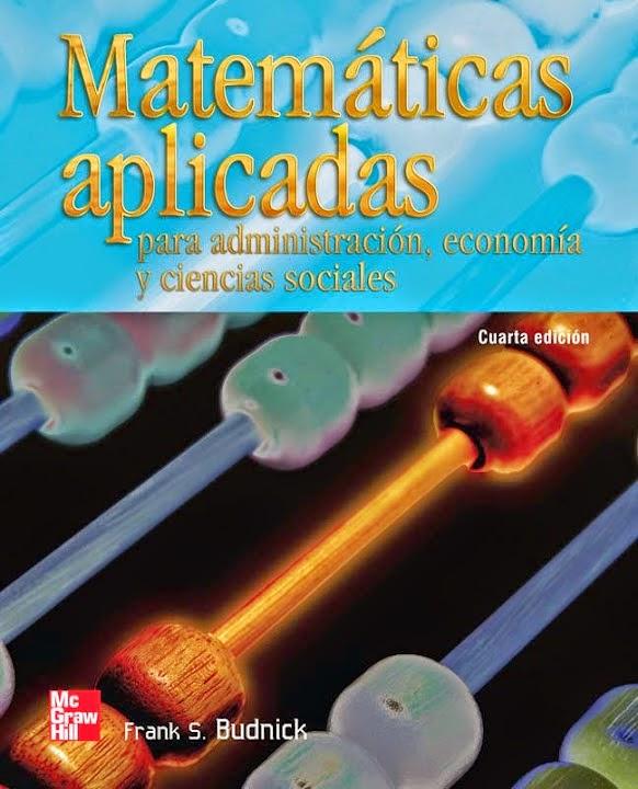 Matemáticas aplicadas Budnick 4a Ed