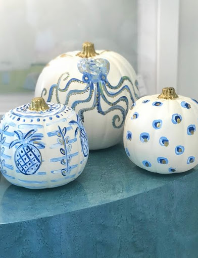 Painted Octopus Pumpkin