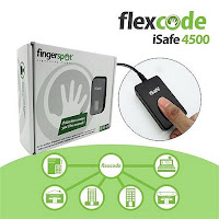 mesin absensi new fingerspot flexcode isafe U are U 4500 dengan kardus