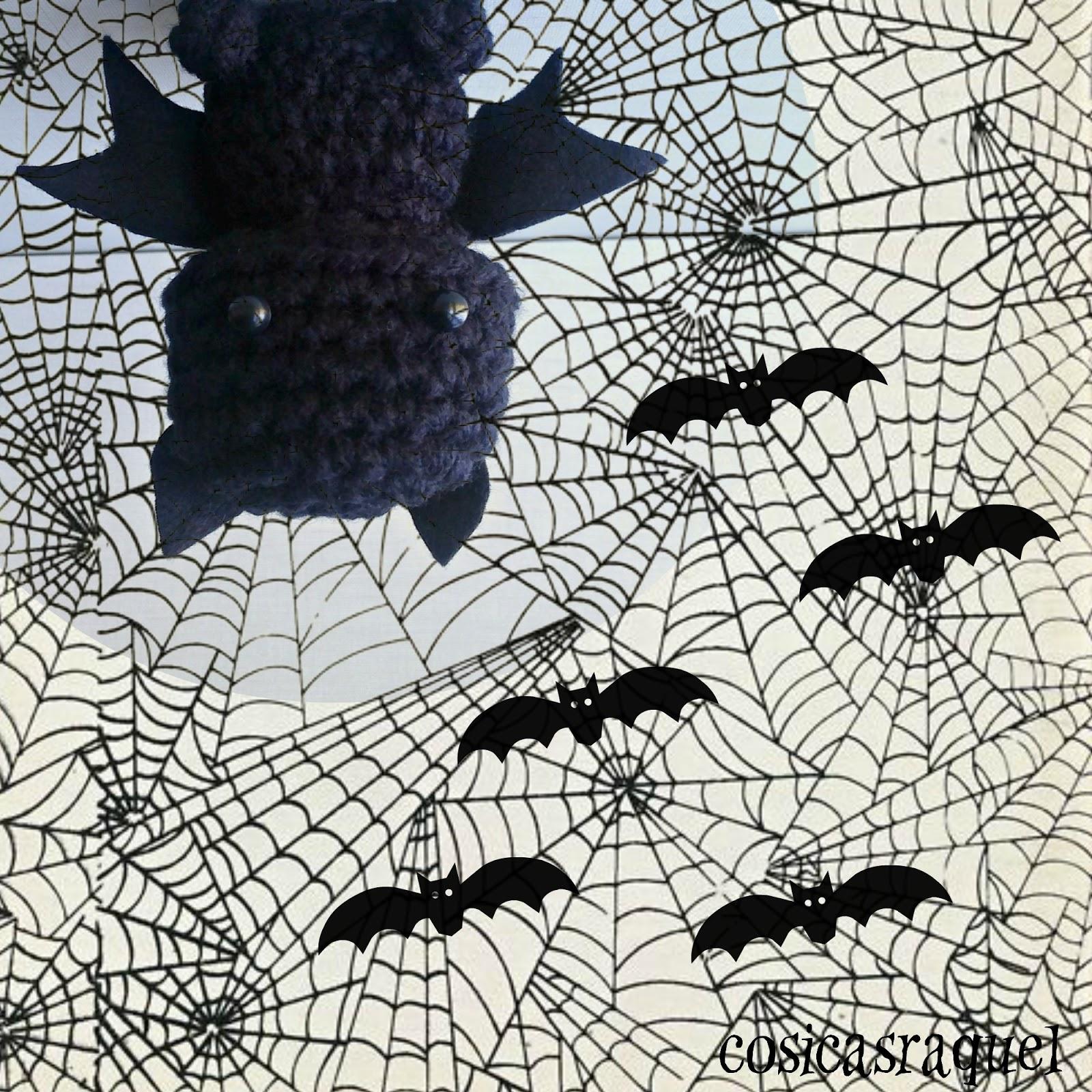 cosicasraquel: Amigurumi Murciélago Halloween
