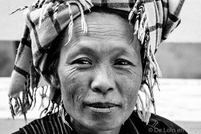 Femme Pa-O - Nampan market - Lac Inle