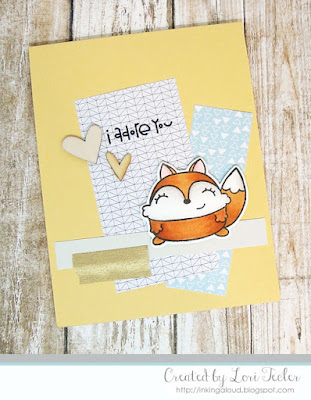 I Adore You card-designed by Lori Tecler/Inking Aloud-stamps from Paper Smooches