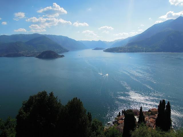 Panorama su Bellagio, la Penisola di Ossuccio e l'Isola Comacina