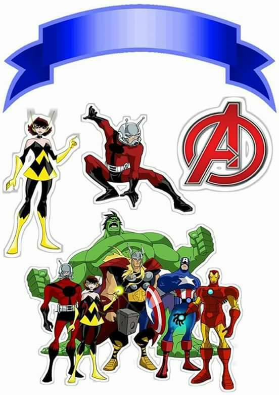 Avengers Free Printable Cake Toppers Oh My Fiesta for Geeks