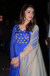 Telugu Actress Tejaswi Madivada Pos in Blue Long Dress at Nanna Nenu Na Boyfriends Audio Launch  0034.JPG