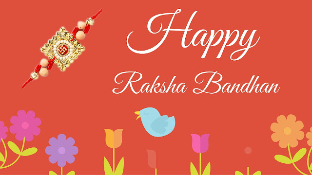 Homemade rakhi greeting cards