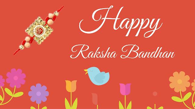 Homemade rakhi greeting cards