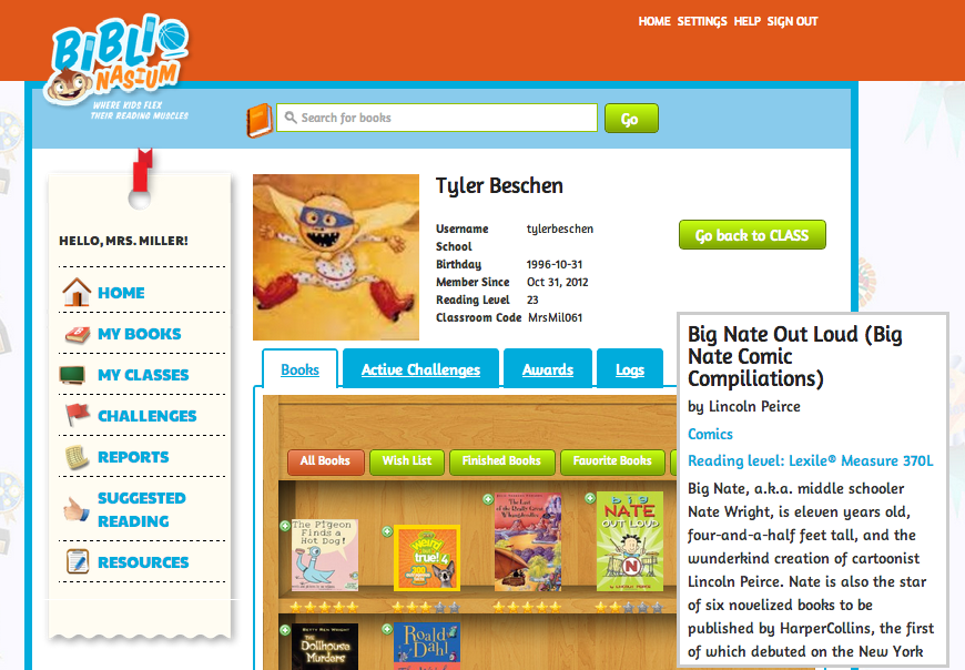 The Library Voice Biblionasium Awesome New Virtual Reading